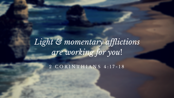 light & Momentary afflictions are working for you!